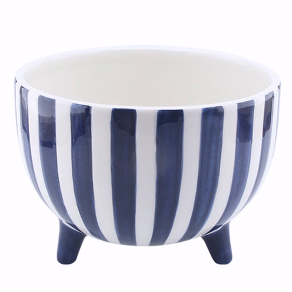 Fraser Hand painted Planter - Blue