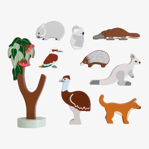 Aussie Animal Wooden Set