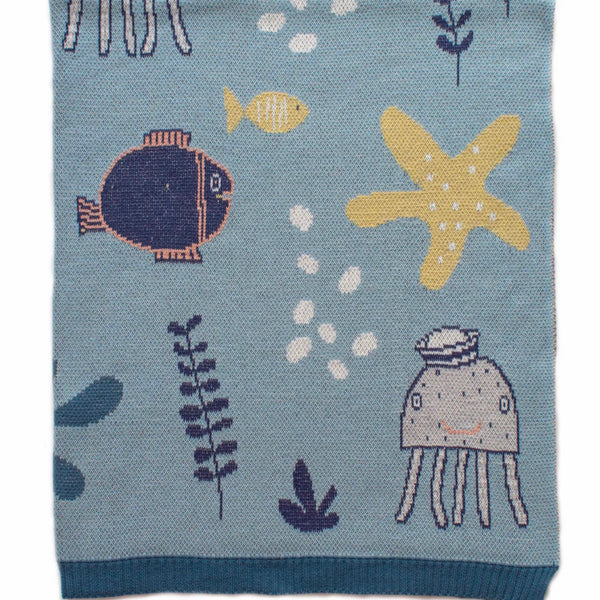 Under The Sea Blue Blanket