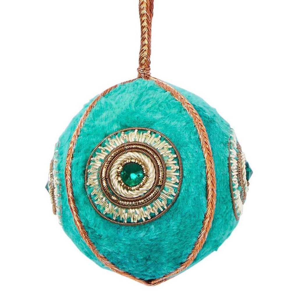 Velvet Jewel Bauble - Emerald