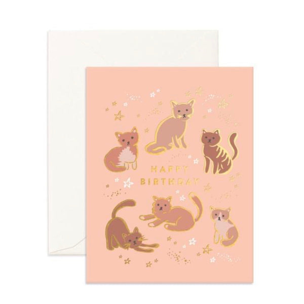Birthday Cats - Greeting Card