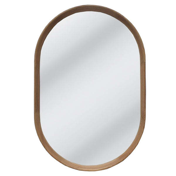 Freya Oval Mirror Oak