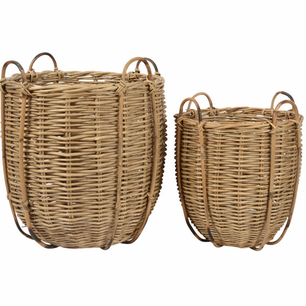 Athena Cane Basket Set of 2