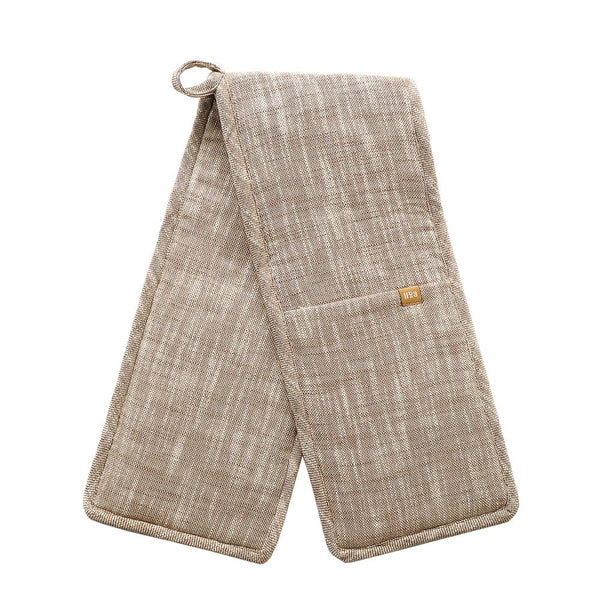 Slub Chambray Double Oven Glove - Stone