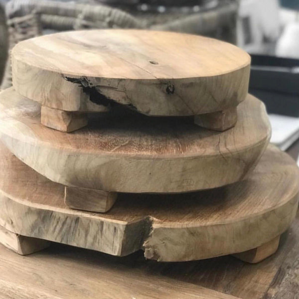 Round Teak Boards 3 Assorted Sizes