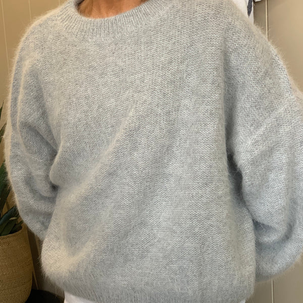 Montreal Angora Sweater - Grey