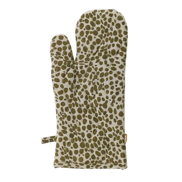 Oven Glove Animal Print Khaki