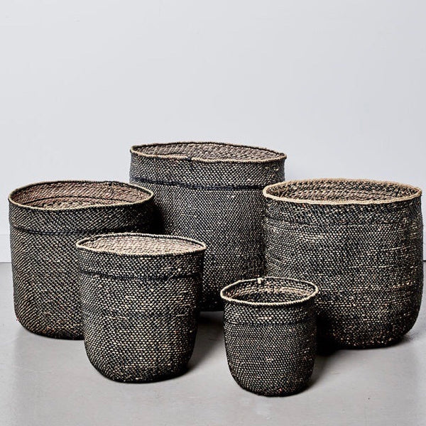 Sondu Iringa Black Baskets 5 Sizes