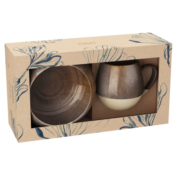 Hug Mug & Bowl Set Toffee