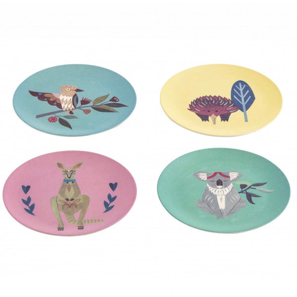 Native Friends Bamboo Plate Set