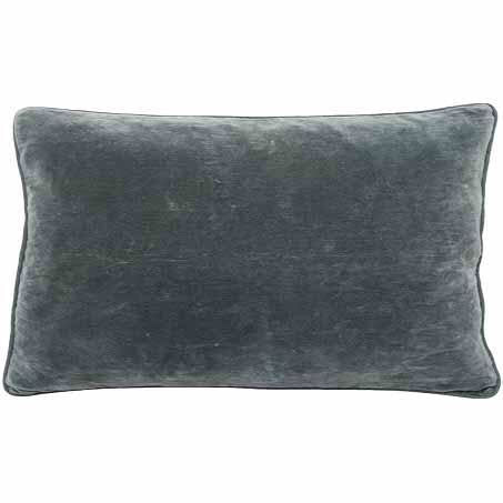 Lynette Velvet Cushion Rectangle Slate