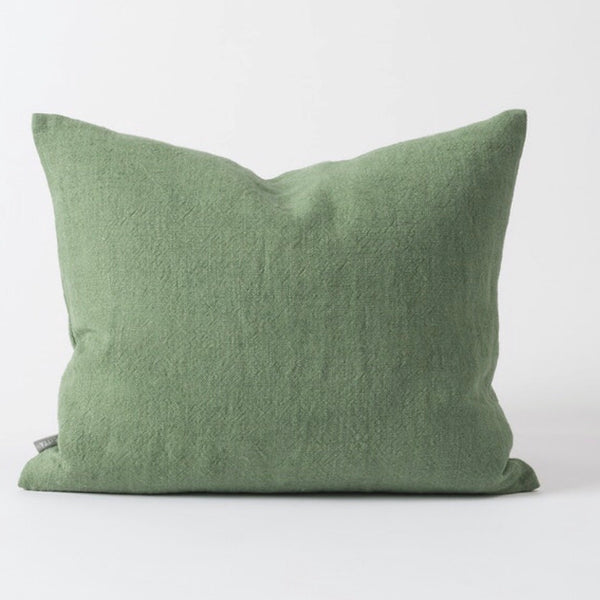 Washed Woven Cushion Flax