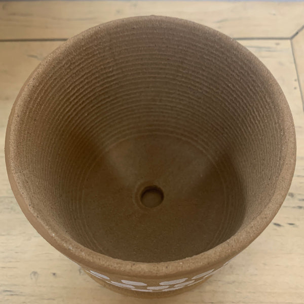 Nomad Pot with Saucer - Small Terracotta