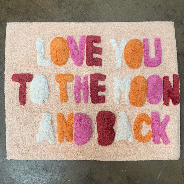 "Bathmat ""Love you to the Moon and Back"" - Peach Multi"