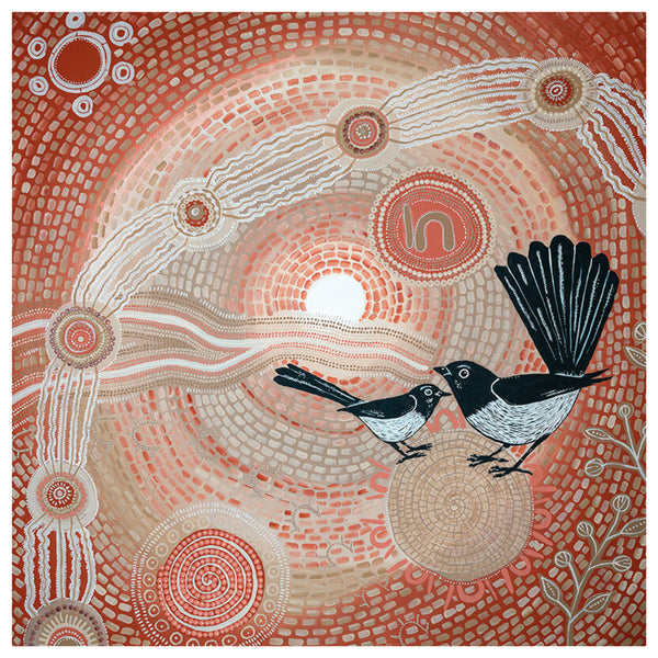 Emma Stenhouse - Willie Wagtail A2 Print