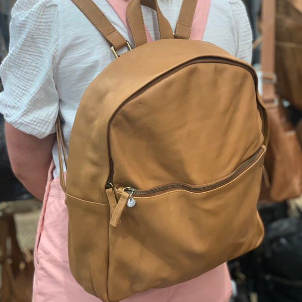 The Paige Back Pack - Aged Tan