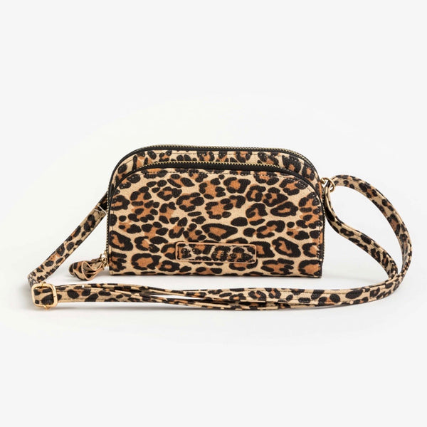 Cleo Phone/Wallet Bag - Leopard