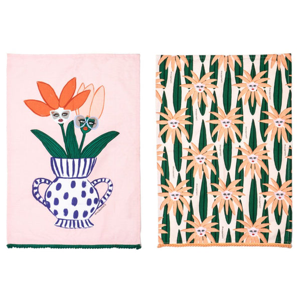 Face Plant Tea Towel - Set of 2
