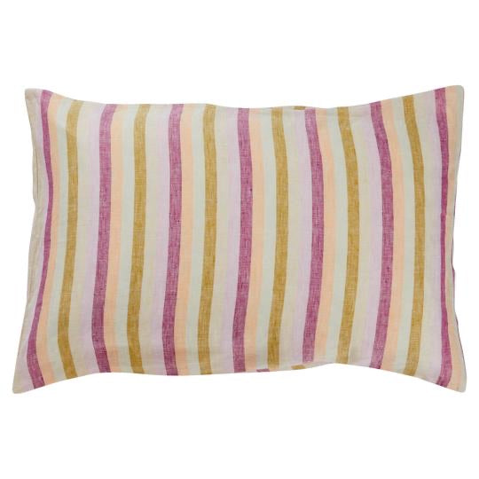 Clement Stripe Linen Pillowcase Set