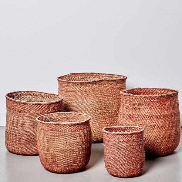Sondu Iringa Terracotta Baskets 5 Sizes