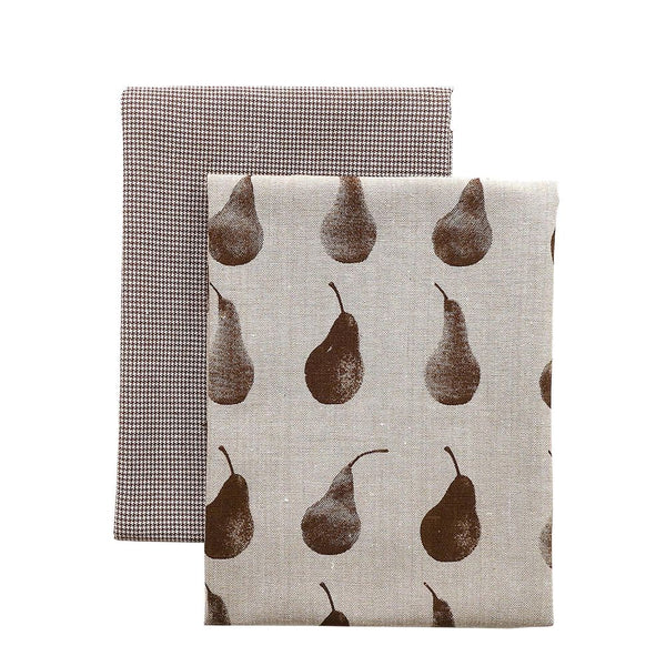 Pear Tea Towel Pack - Earth Brown
