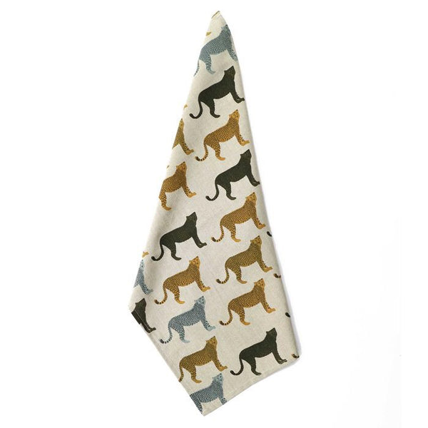 Cheetahs Gone Wild Single Tea Towel