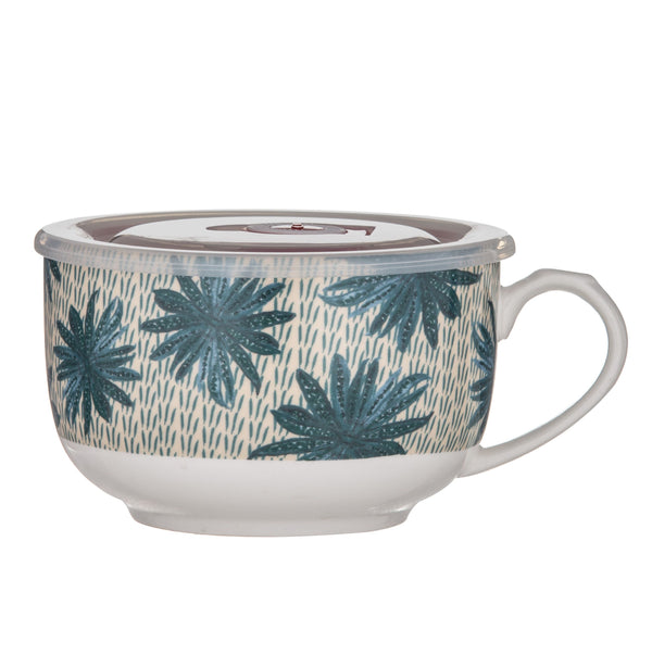 Jungle Queen Tropical envy Soup Mug with Lid