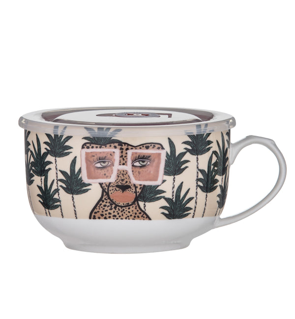Jungle Queen Soup Mug with Lid