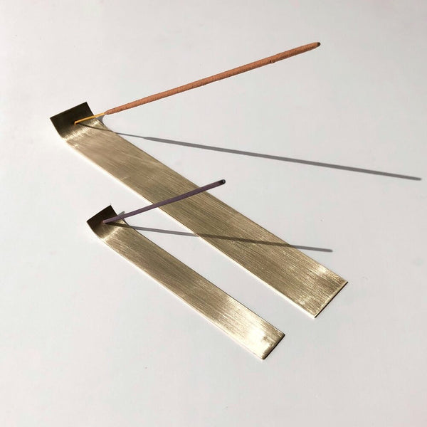 Flat Brass Incense Holder - Small