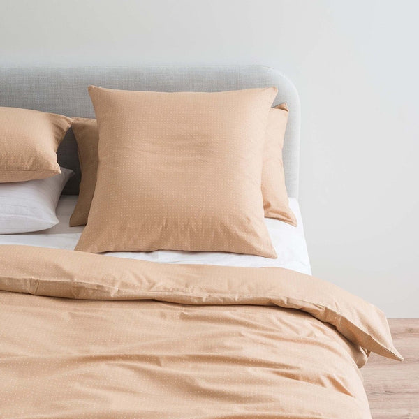 Inku Cotton Linen Euro Pillowcase - Tea