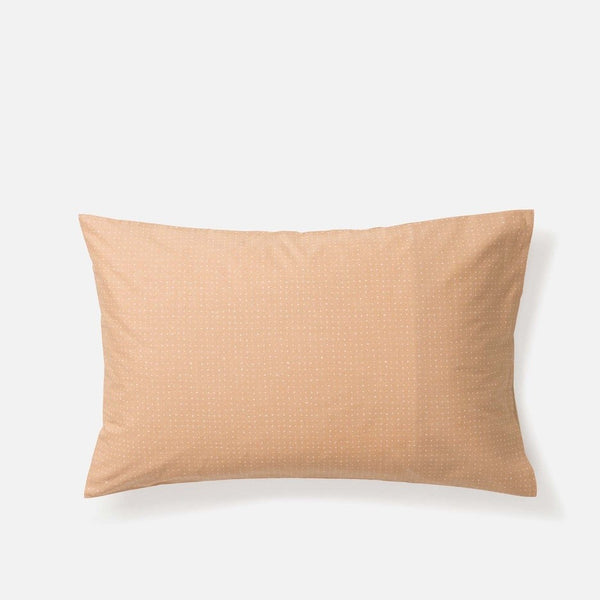 Inku Cotton Linen Pillowcase Pair - Tea