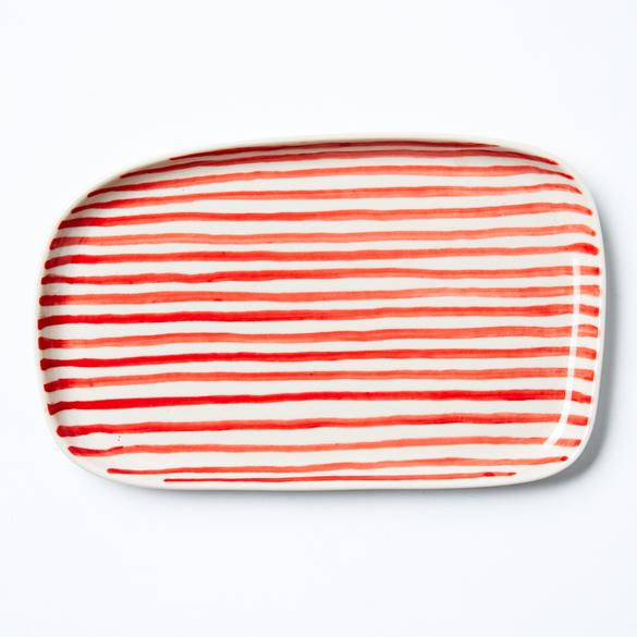 Chino Red Stripe Tray