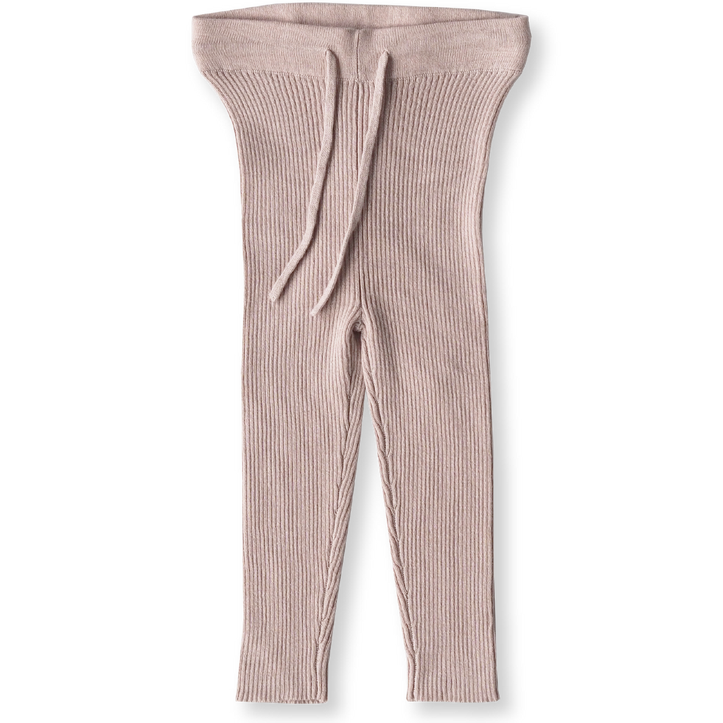 Ribbed Essential Leggings - Rose