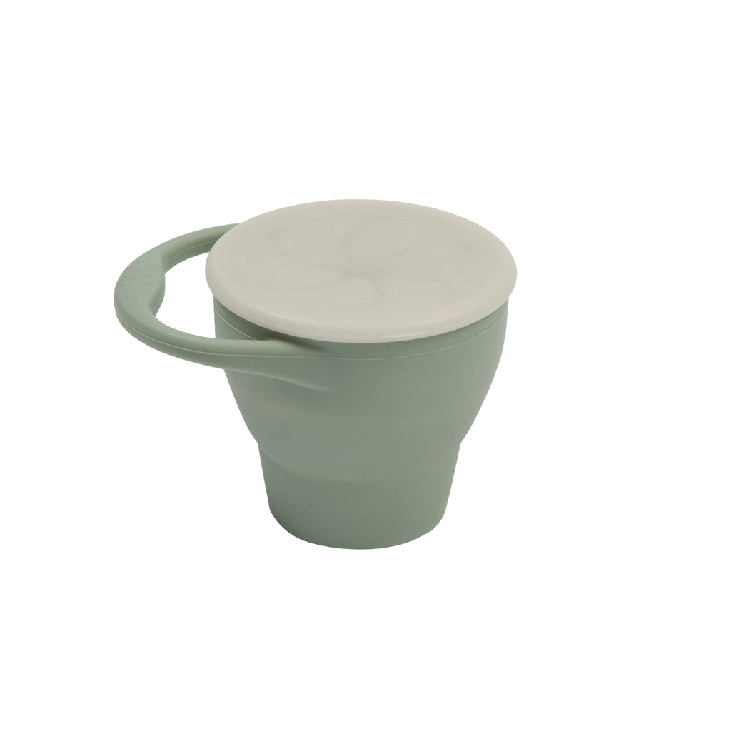 Silicone Expandable Snack Cup - Light Grey