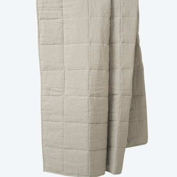 Linen Quilted Blanket - Puddle