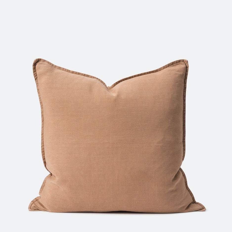 Washed Linen Cushion - Oat