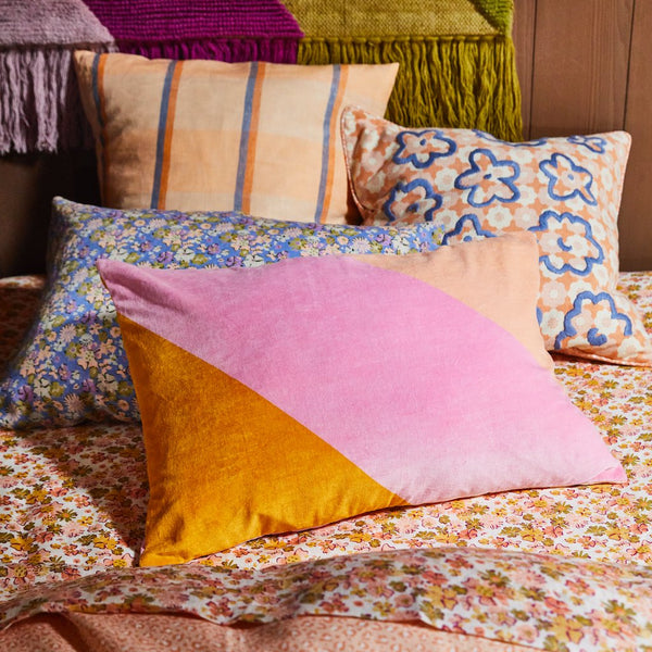 Lizea Velvet Pillowcase - Pink