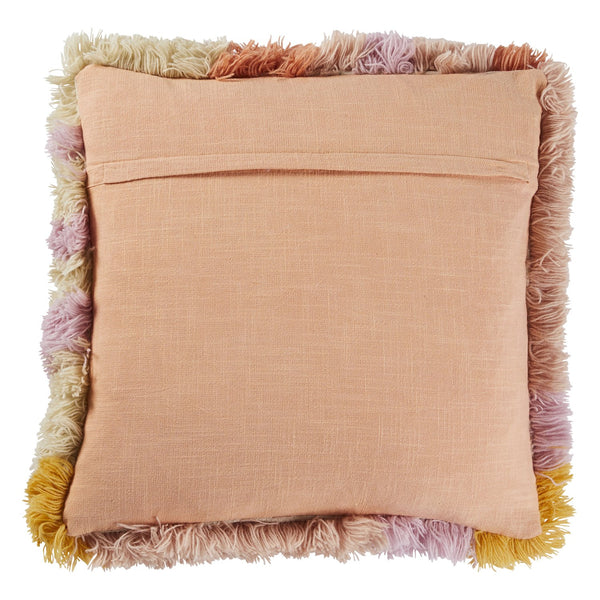 Lucie Shag Cushion - Peach