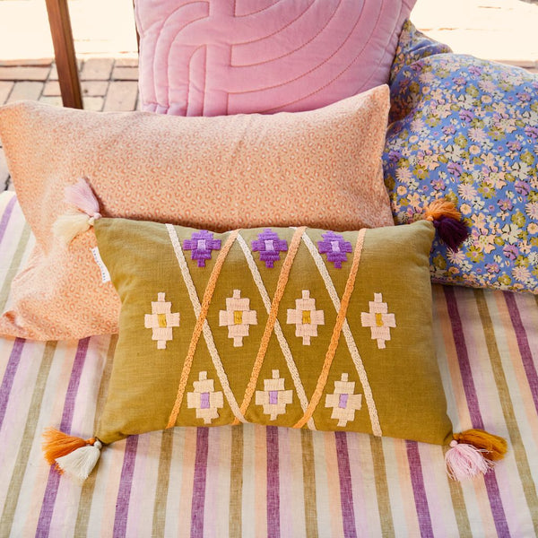 Magalie Embroidered Cushion