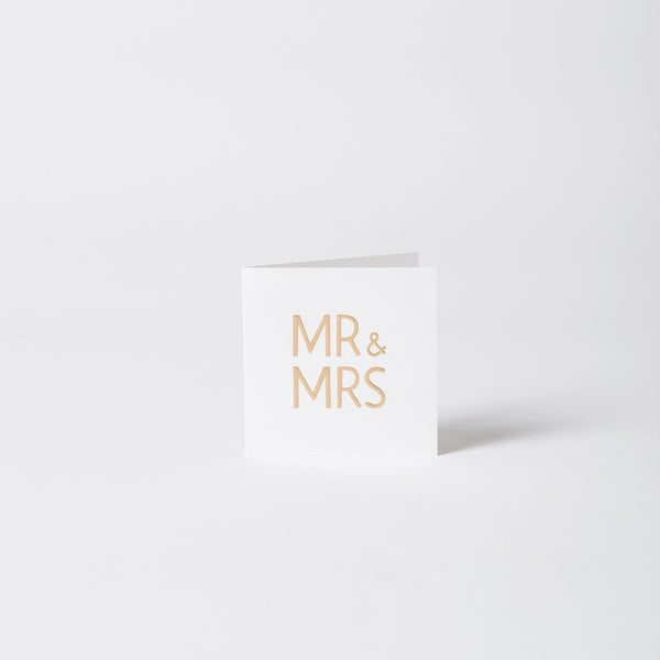 Mr & Mrs - Greeting Card