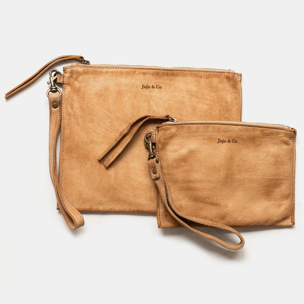 Large Flat Pouch- Natural