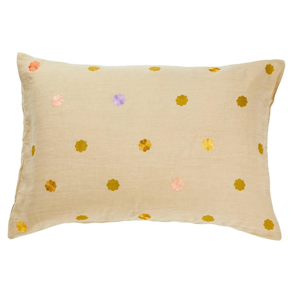 Elian Embroidered Pillowcase - Oat