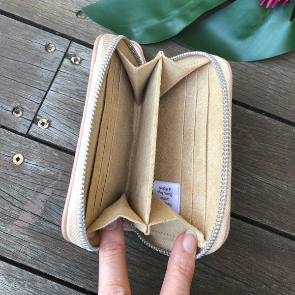 Timeless Mini Zip Wallet - Camel