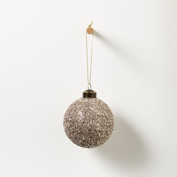 Symphony Hanging Glass Bauble - Glitter Set of 4