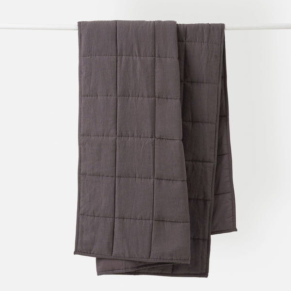 Linen Quilted Blanket - Pepper Small