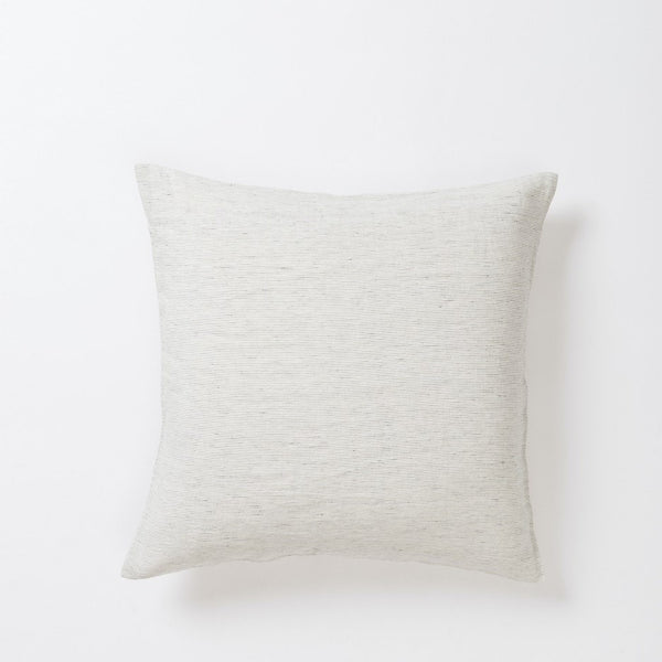 Pinstripe Linen Euro Pillowcase - Pepper/Chalk