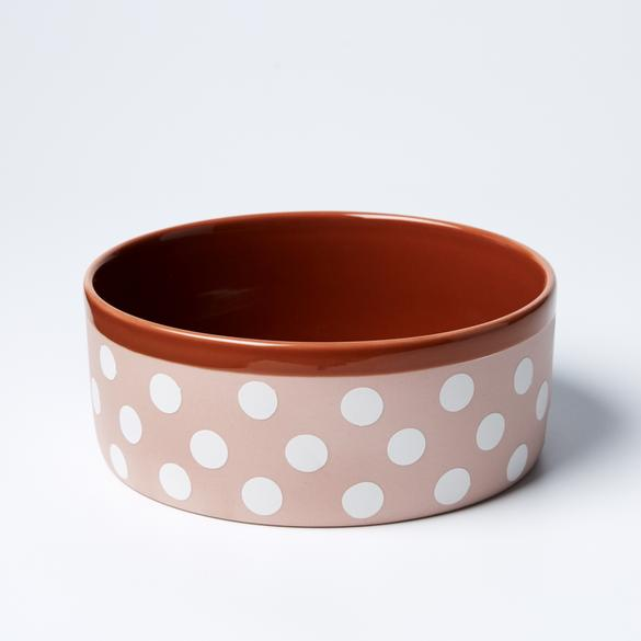 Big Woof Bowl - Pink Spot