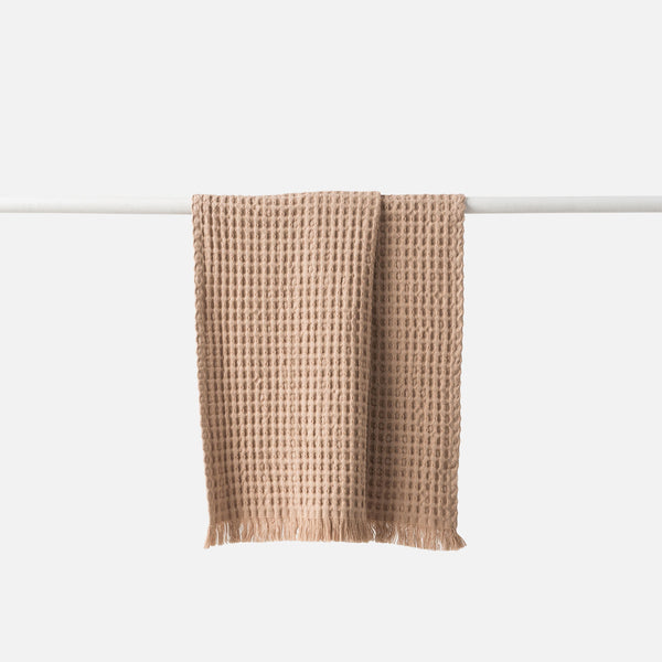 Waffle Organic Cotton Kitchen Towel - Latte