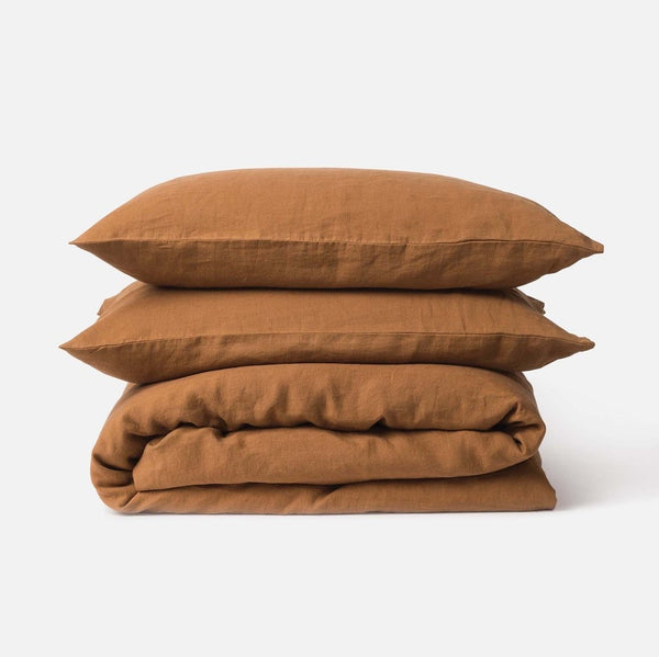 King Sove Linen Duvet Cover - Toast