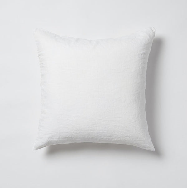 Sove Linen Euro Pillowcase - White